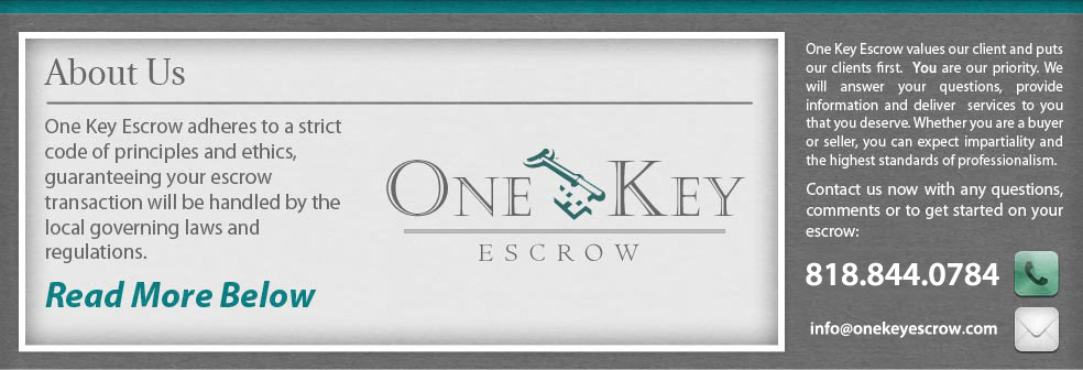 Welcome To One Key Escrow